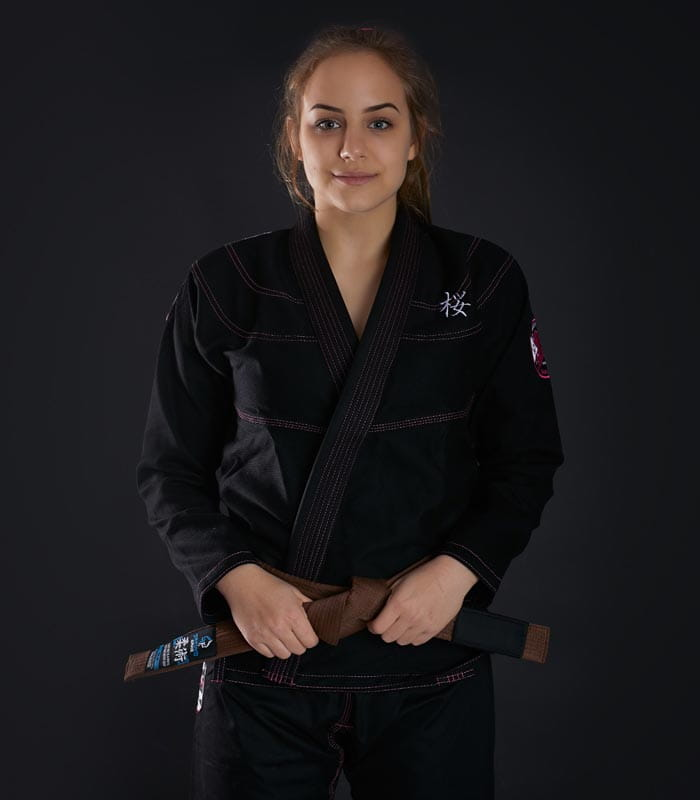 GI DO BJJ DAMSKIE  GROUND GAME - SAKURA - CZARNE