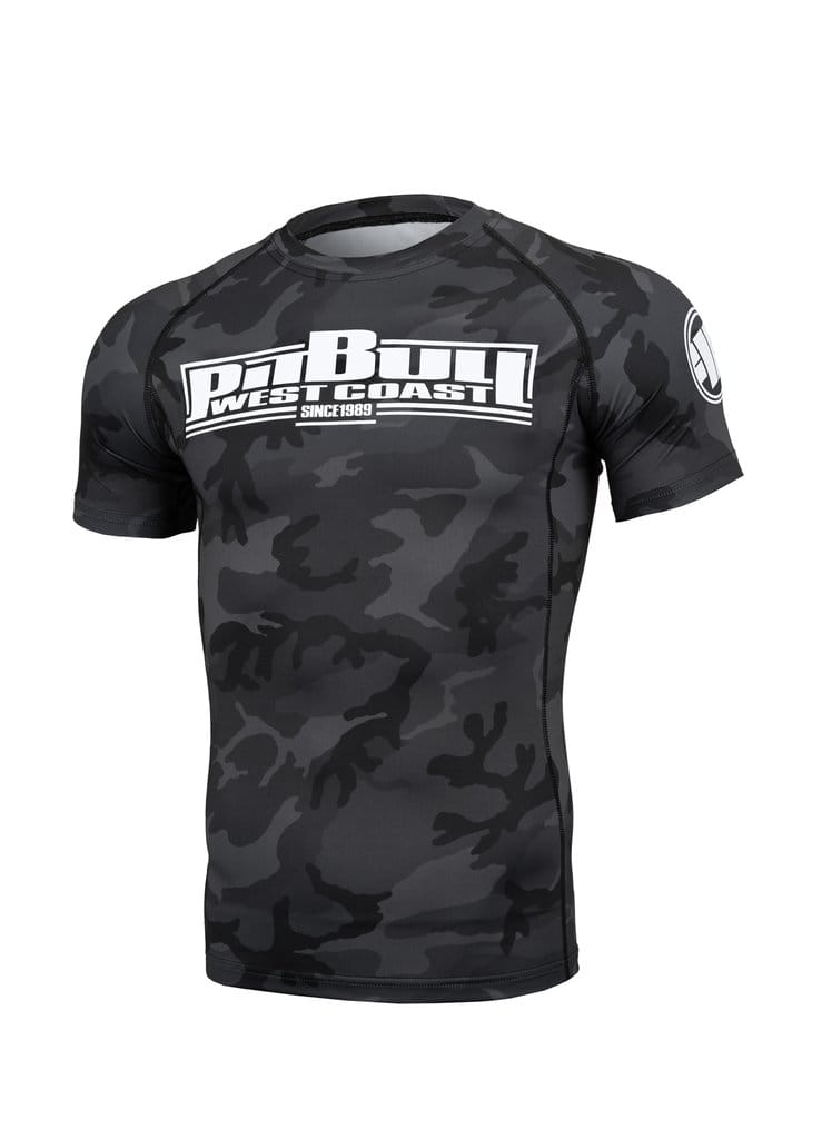 RASHGUARD PIT BULL - ALL BLACK CAMO