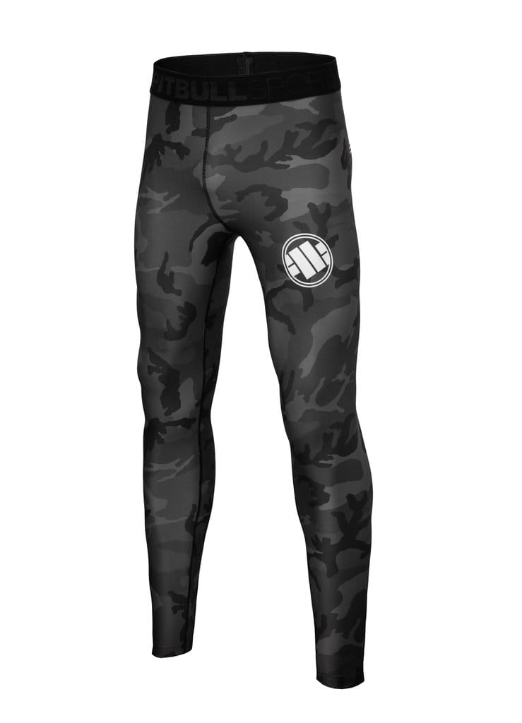 Legginsy ALL BLACK CAMO - PIT BULL